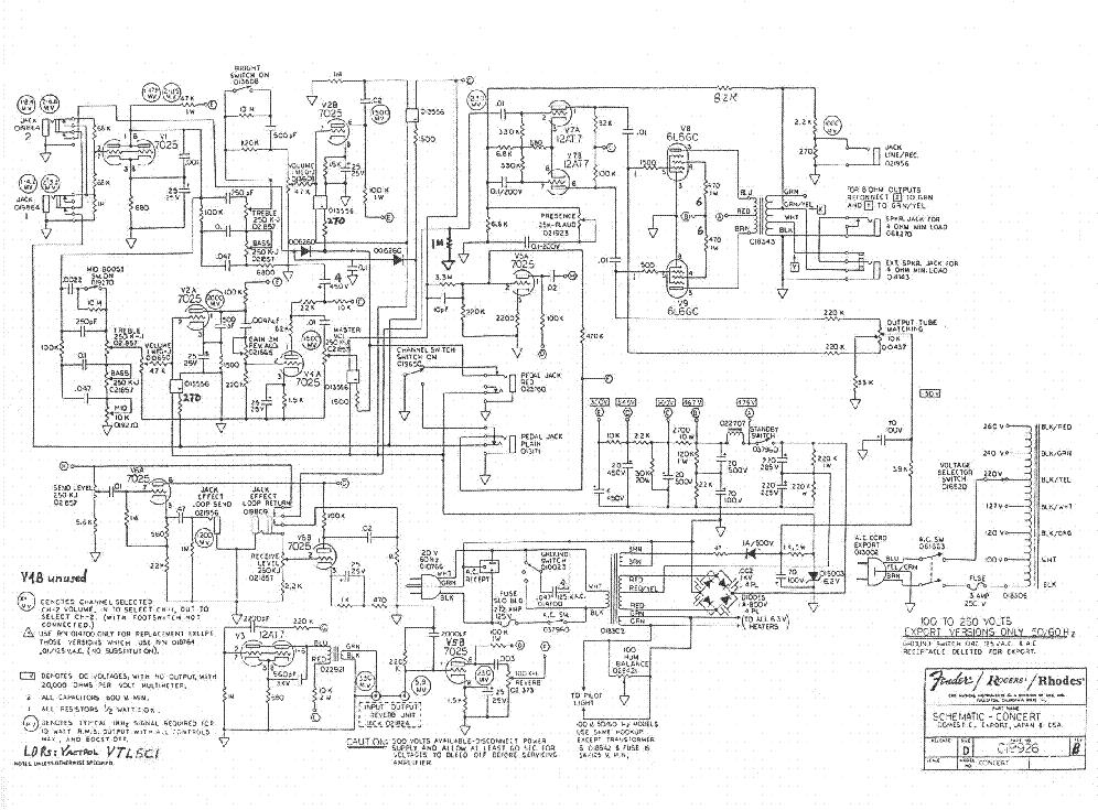 FENDER PR345-SQUIER4 SCH Service Manual download, schematics ... on