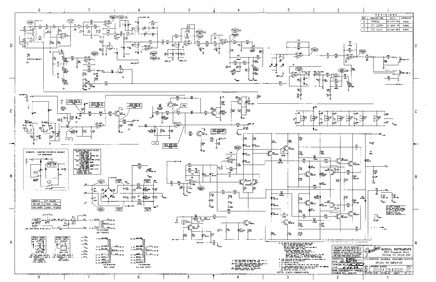 Fender Deluxe 90 Sch Service Manual Download Schematics