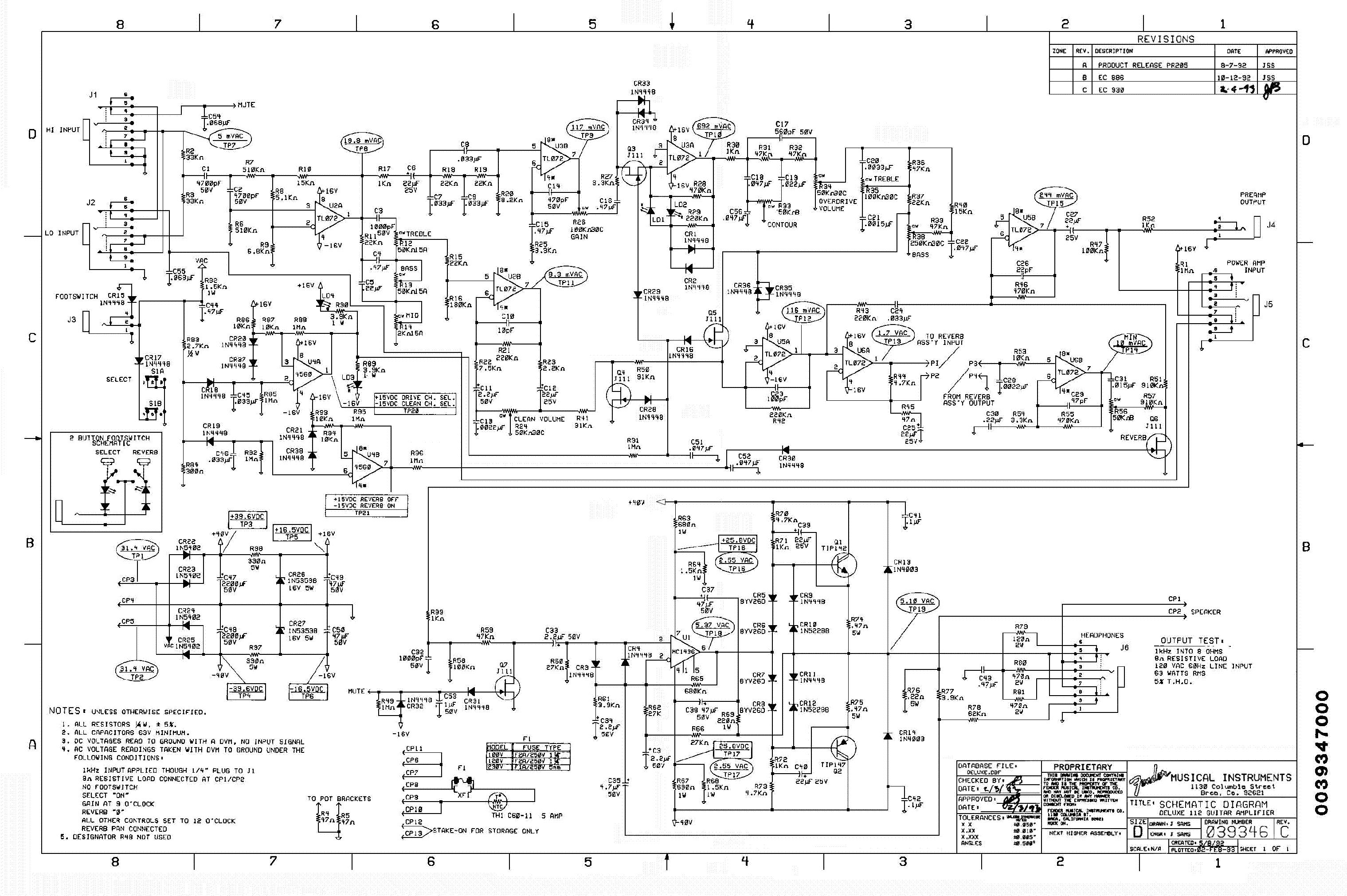 Fender Schematic on