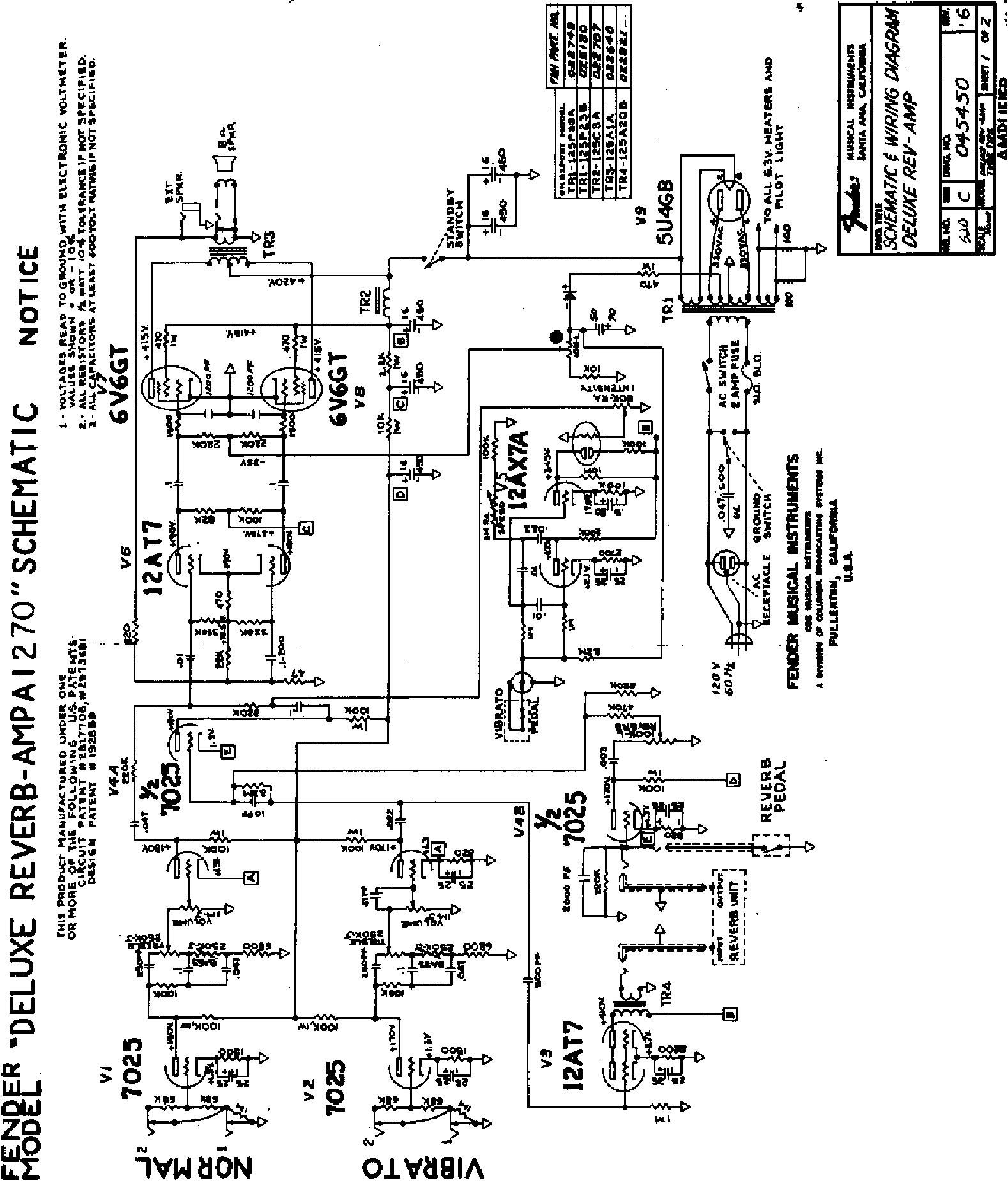 deluxe reverb reissue schematic