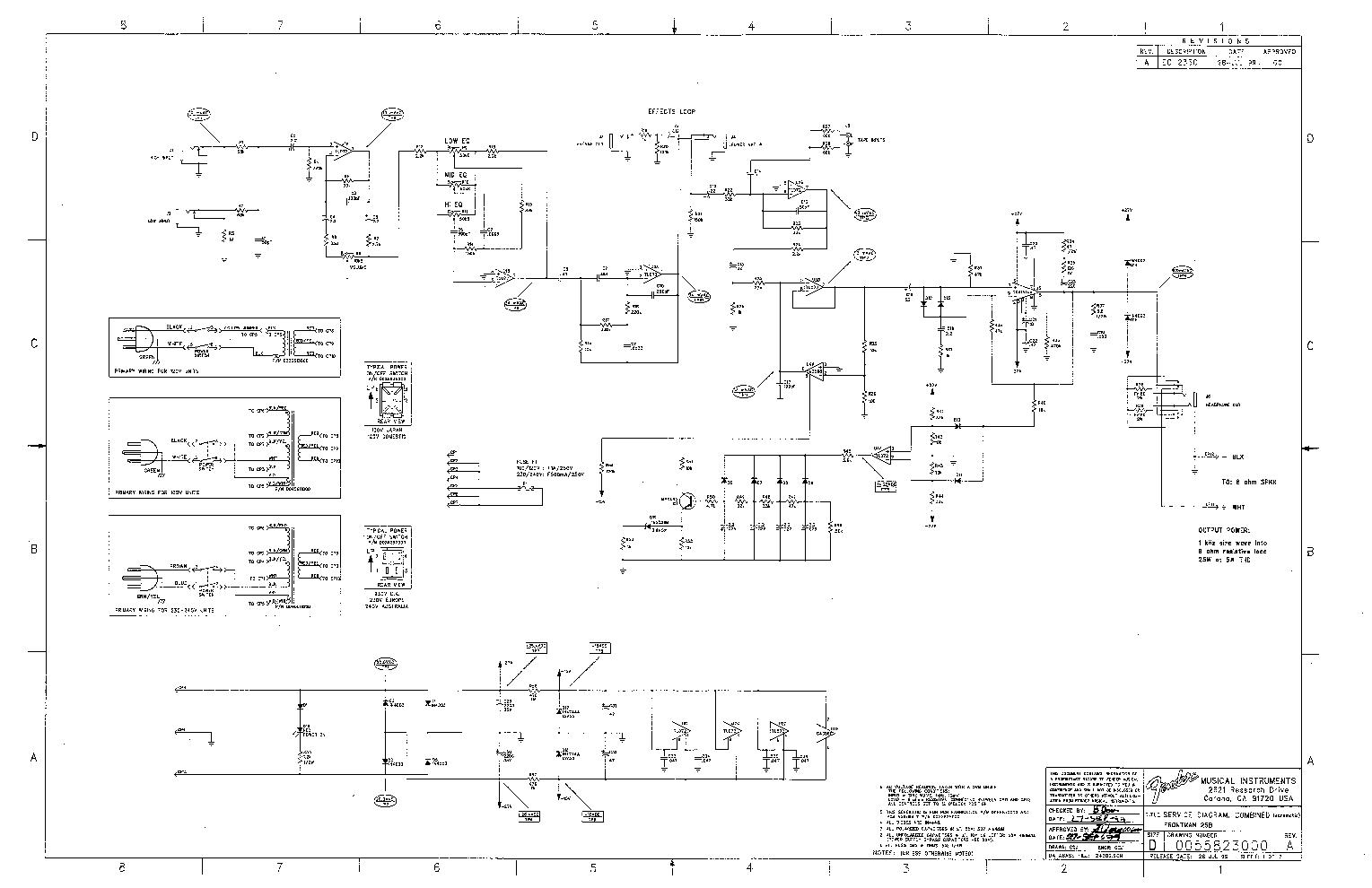 Fender frontman 15g sch service manual download, schematics.