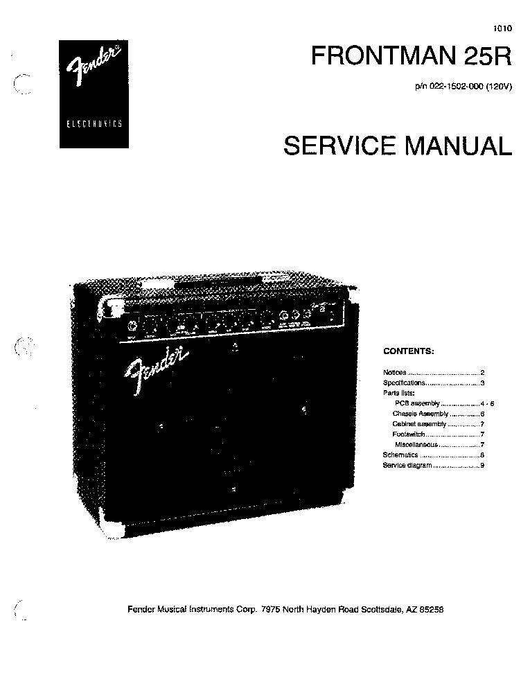 Frontman 10g guitar amplifier, specifications | fender frontman.