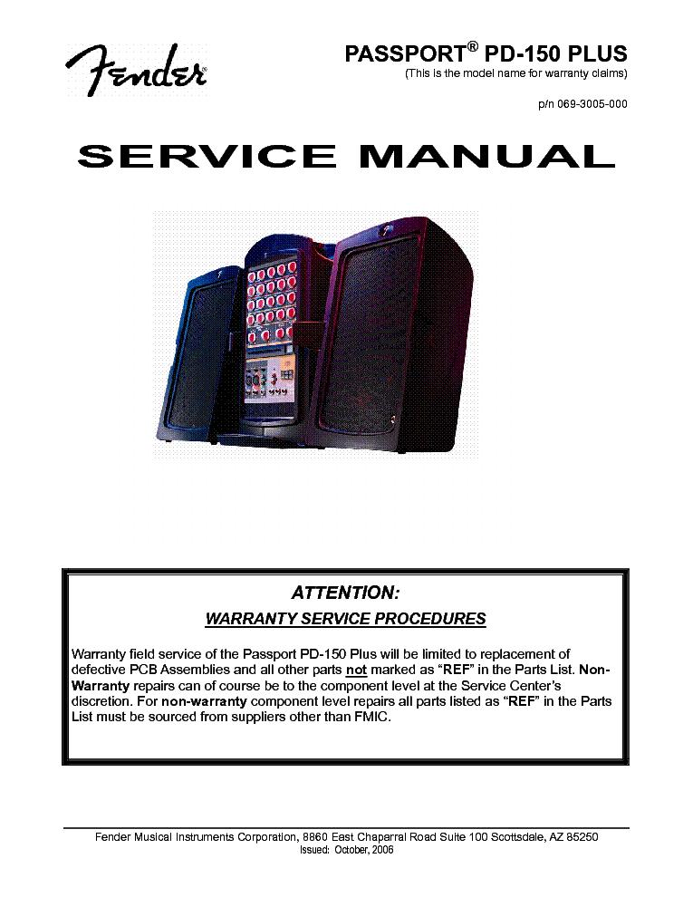 fender passport mini manual pdf