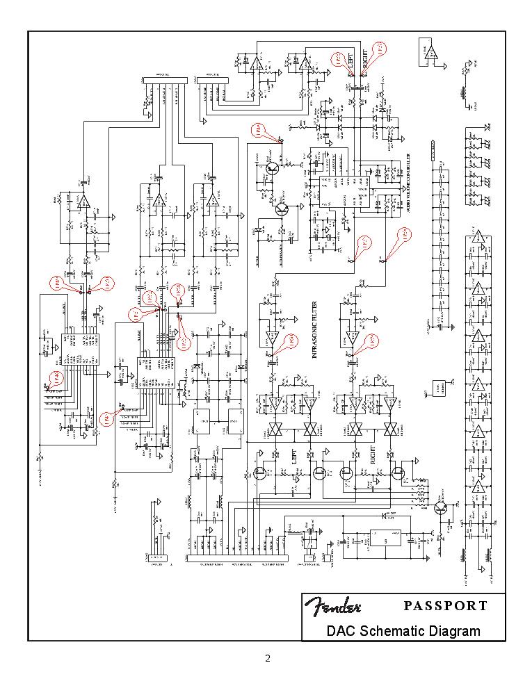 fender pport pd-500 sch service manual download, schematics     on