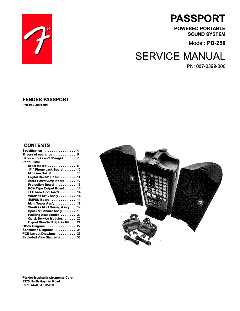 fender passport 150 pro manual