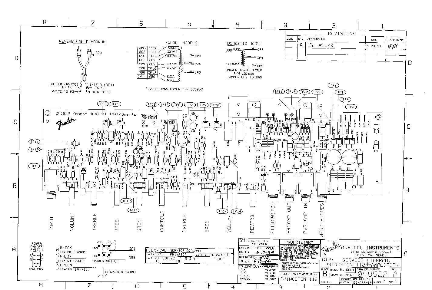 FENDER PRINCETON-112-PLUS SCH Service Manual download, schematics