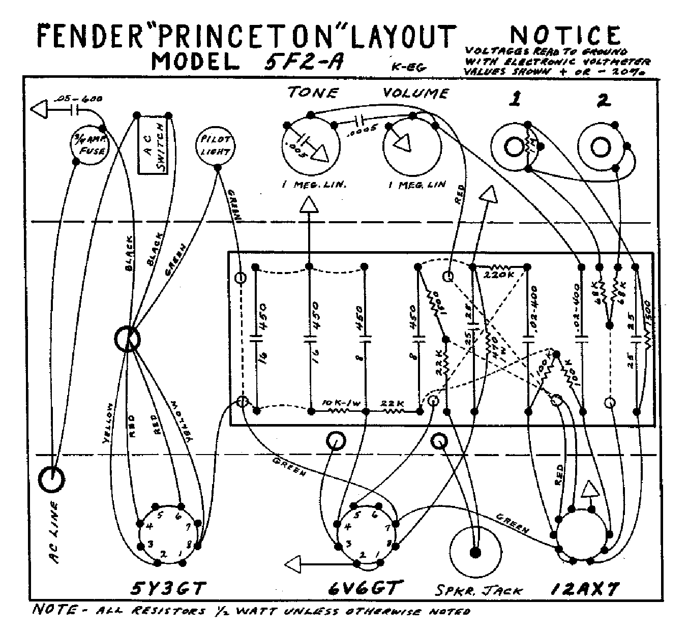 Fender Princeton Wiring Diagram - Wire Diagram Here on