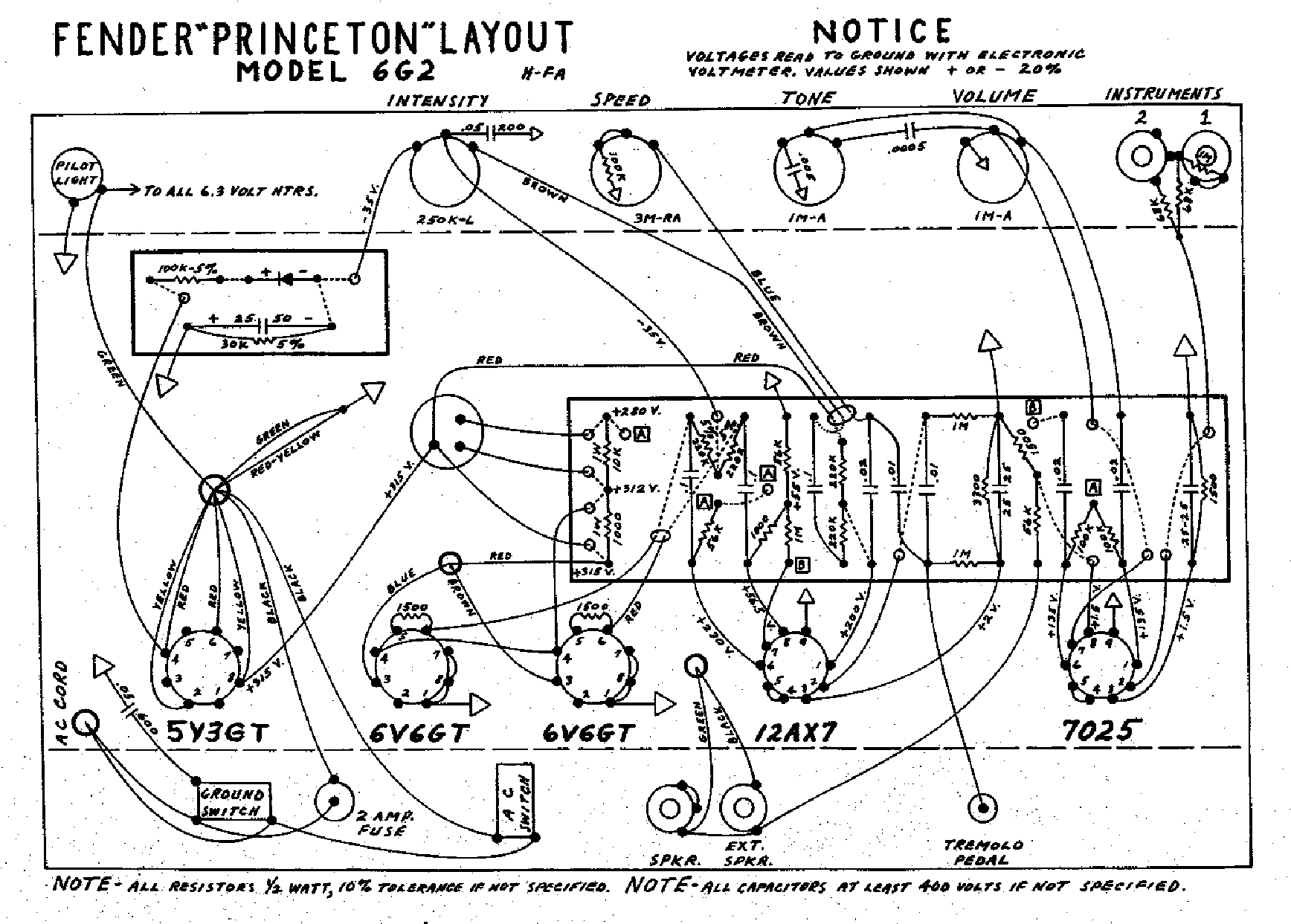 fender princeton-6g2-layout service manual download ... fender strat wiring diagram 5 way switch fender princeton wiring diagram