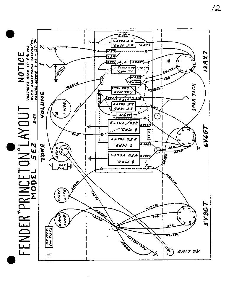 Fender Champ Amp Aa764 Sch Service Manual Download Schematics