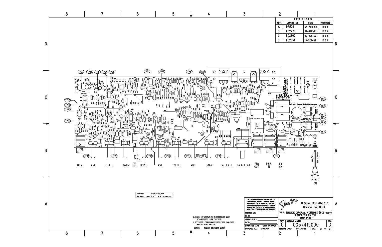 FENDER PRINCETON 65 DSP GUITAR AMPLIFIER SCH Service Manual