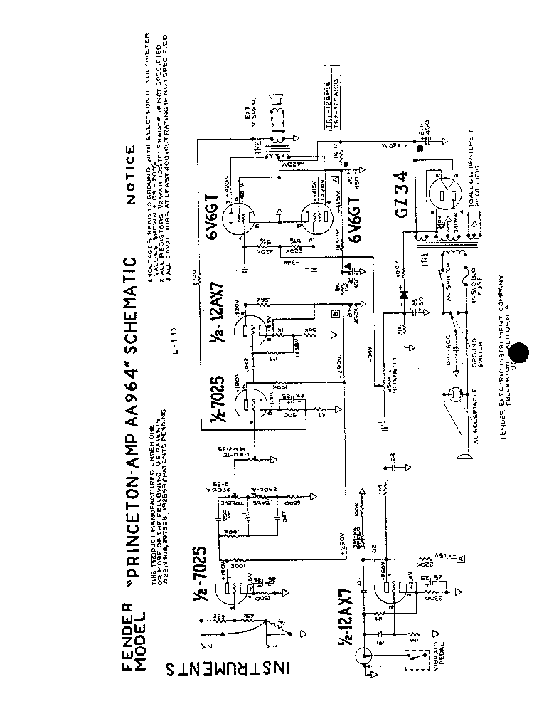 fender vibrolux reverb aa270 rev f sch layout service manual free download  schematics  eeprom