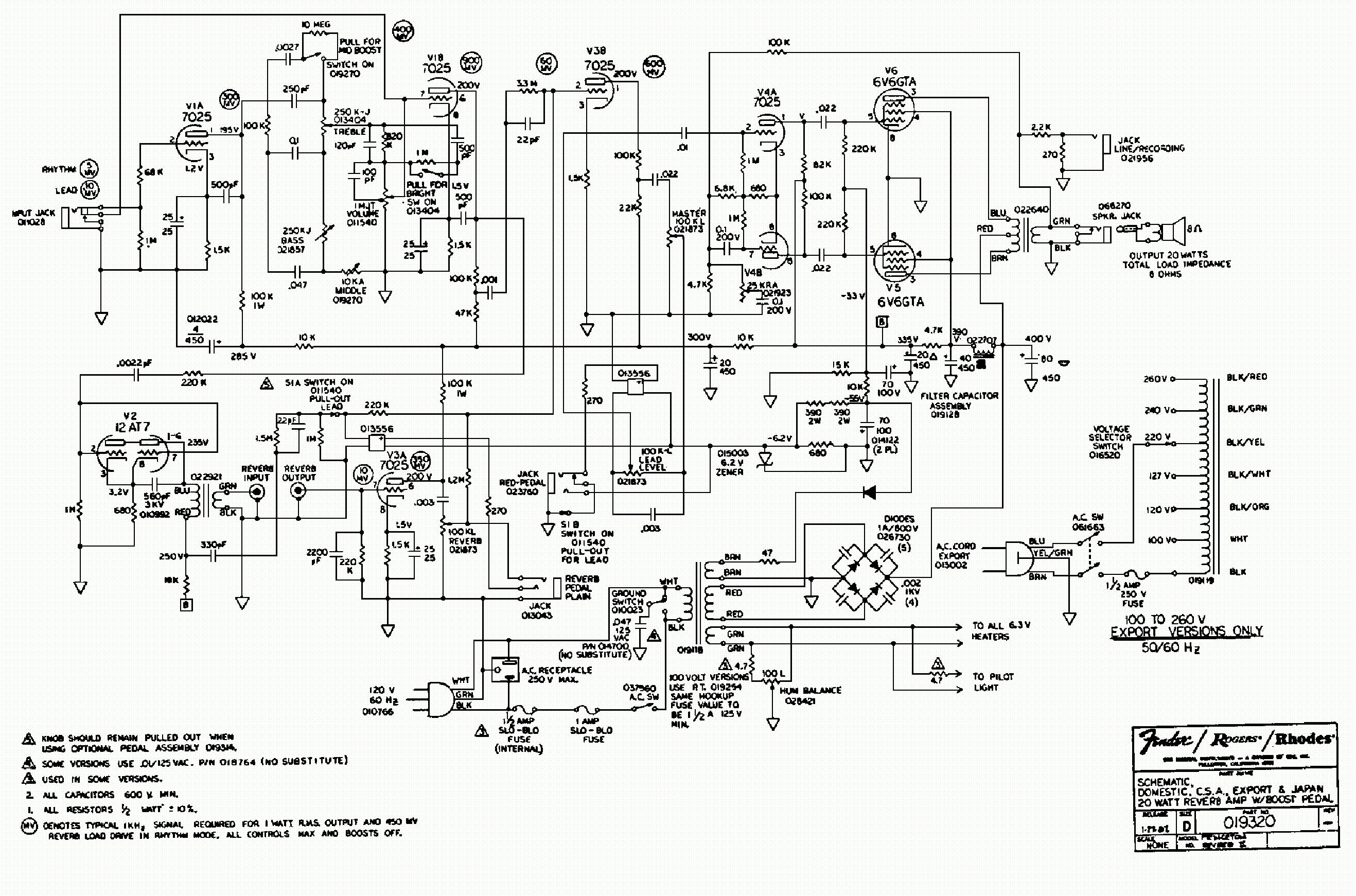 fender deluxe reverb amp circuit