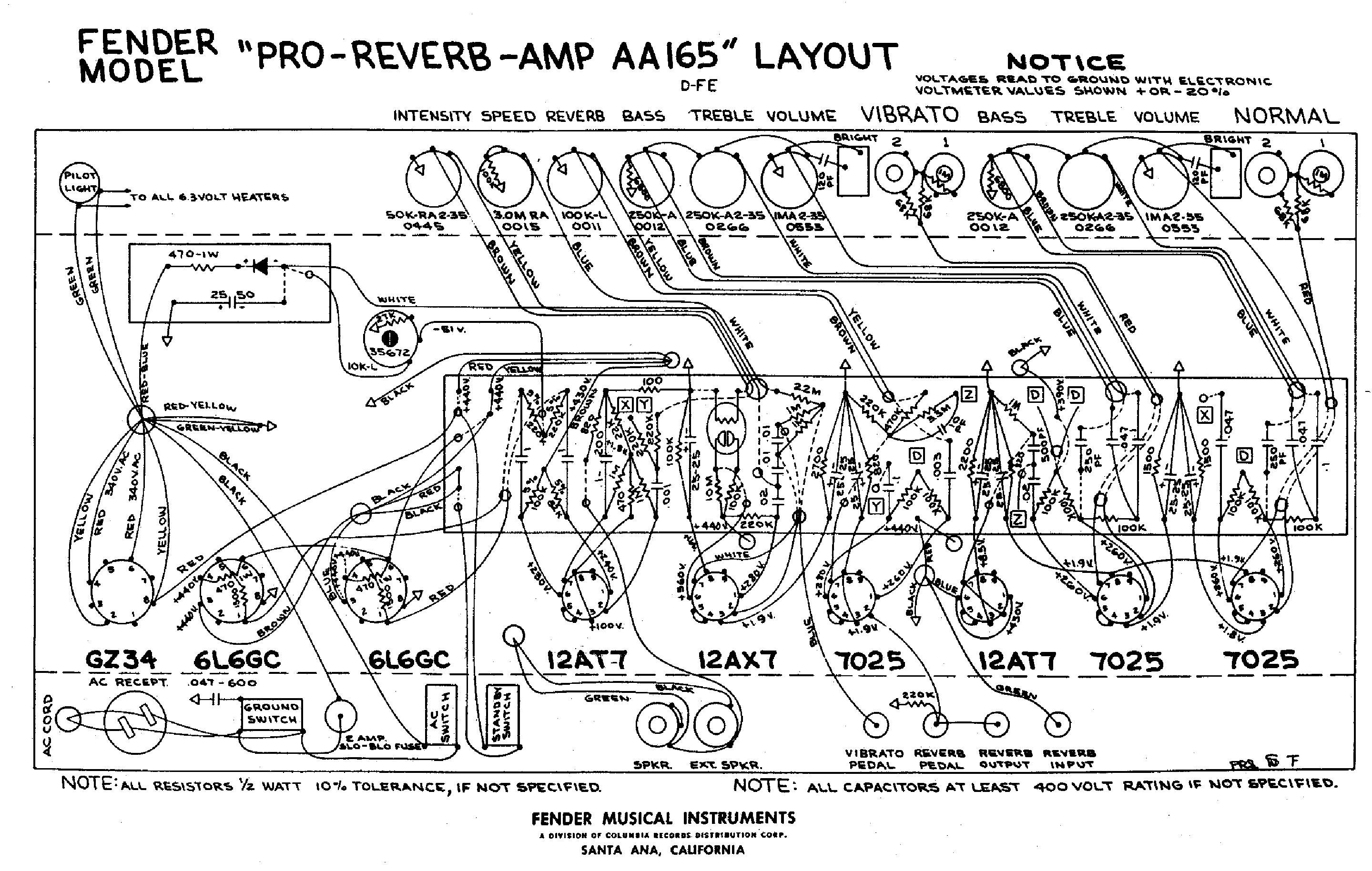 fender pro reverb schematic  | elektrotanya.com