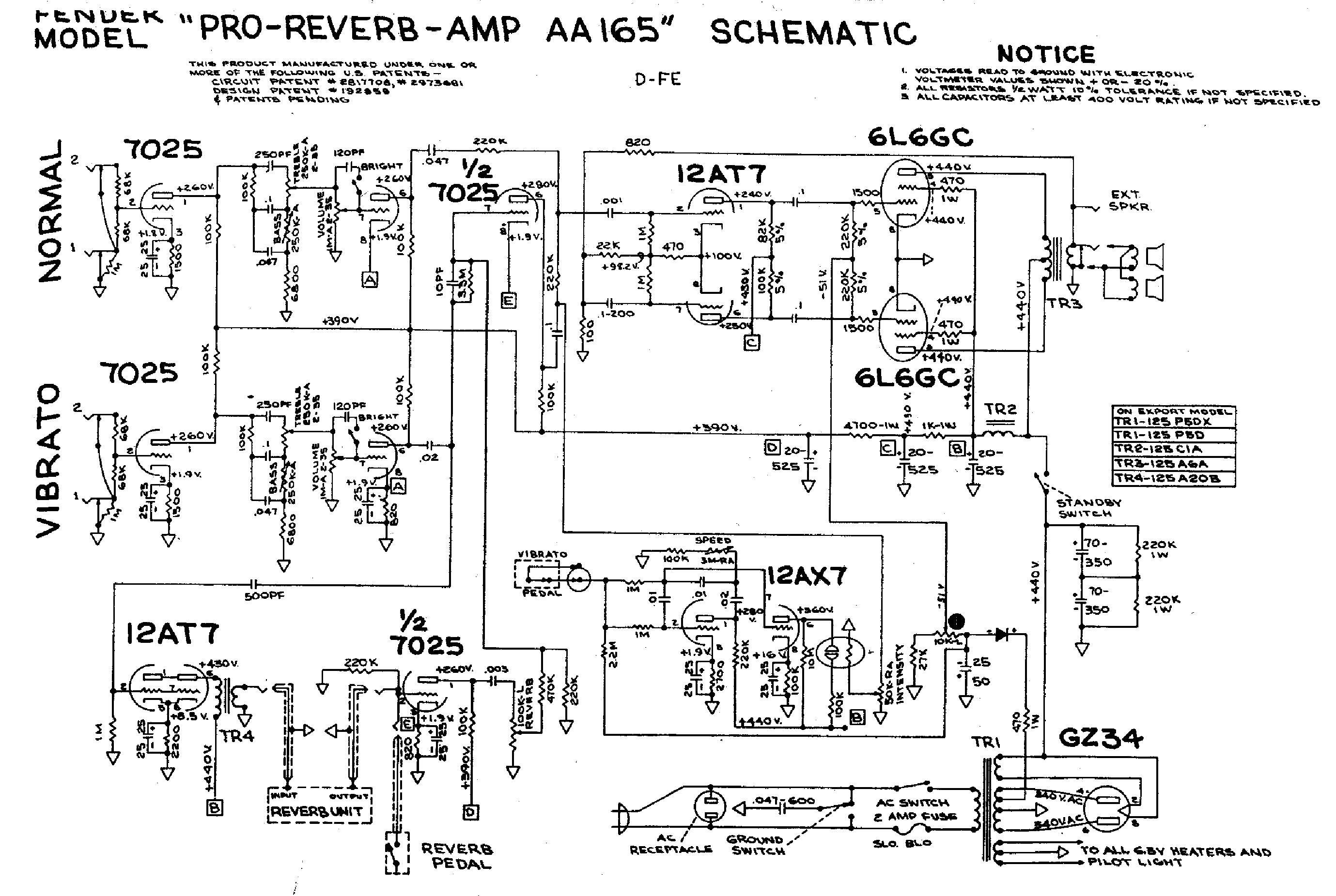 fender stage 1000 1600 guitar amplifier sch service manual
