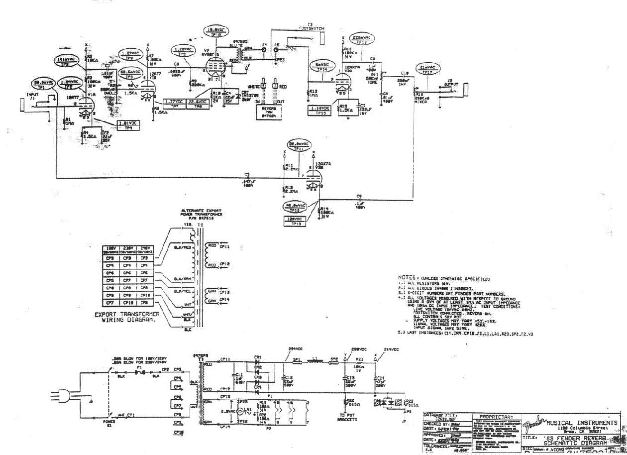 fender deluxe reverb amp ab868 sch service manual download rh elektrotanya com fender 63 tube reverb review fender 63 reverb pedal review