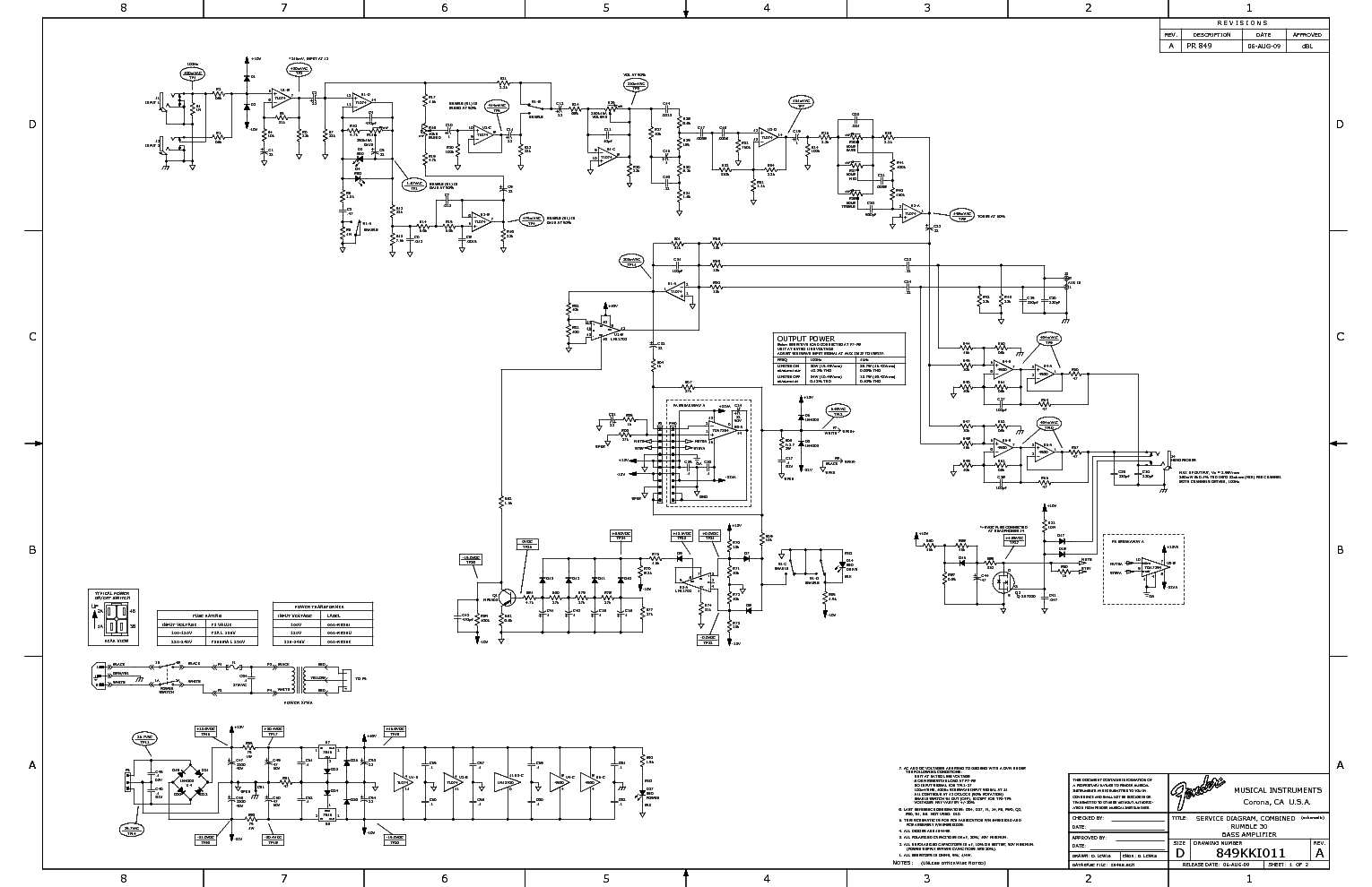 Fender Rumble Bass Schematic - Block And Schematic Diagrams •