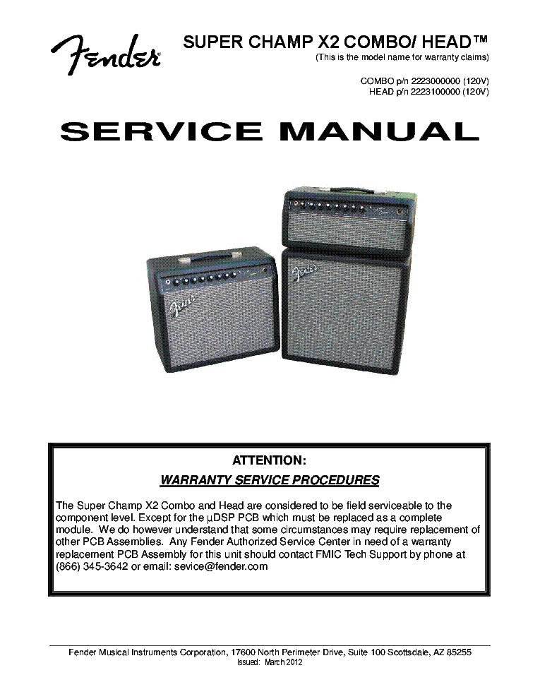 FENDER SUPER-CHAMP-X2-COMBO SM Service Manual download, schematics on super red, super valkyrie, super spawn, super x 2, super deadpool, super wolverine, super bizarro, super beast, super banshee,