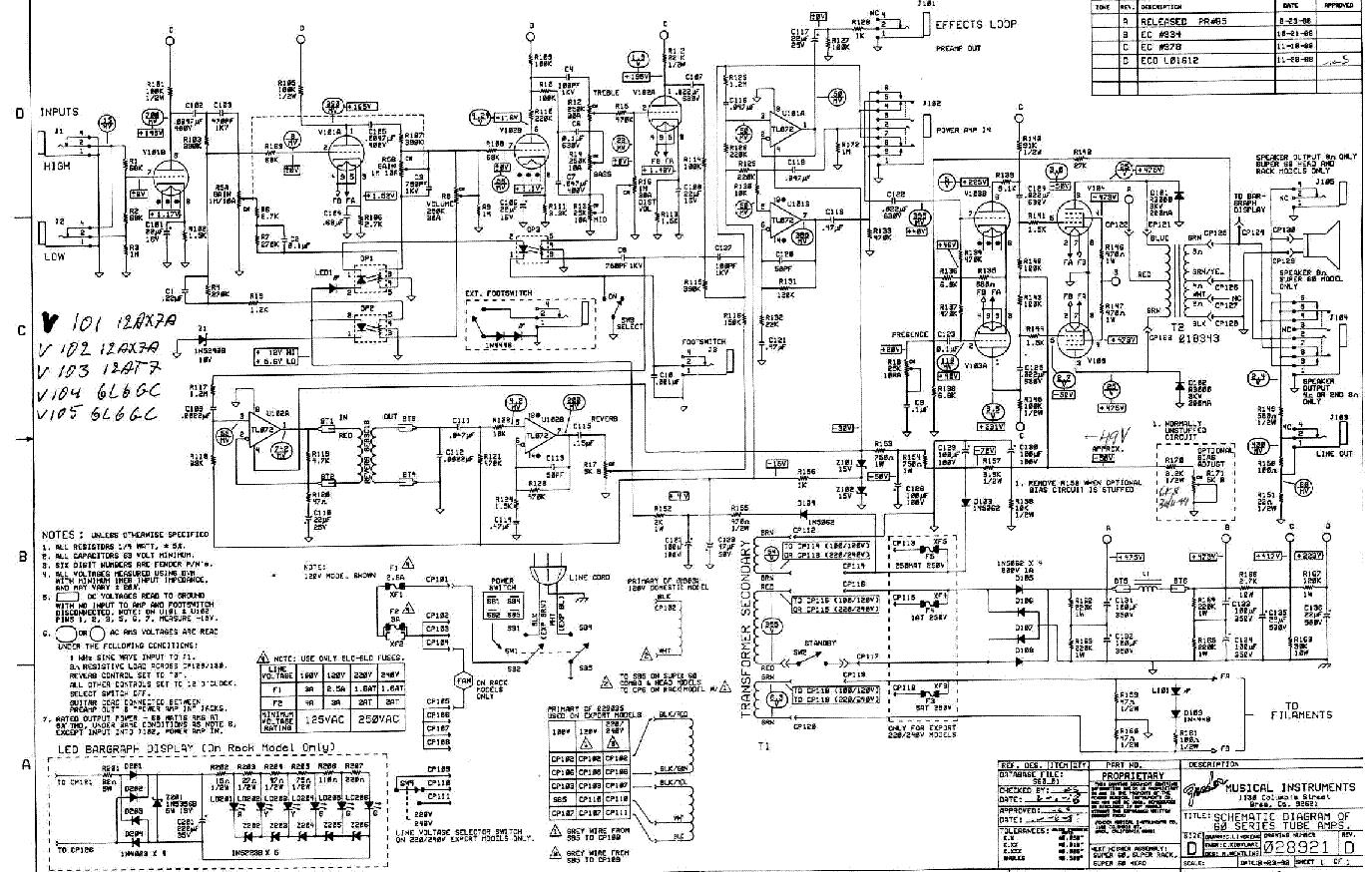 Fender Super 60 Rack Rev D Sch Service Manual Download