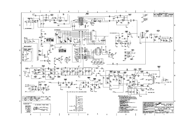 FENDER SUPER CHAMP XD SCH Service Manual download, schematics ... on