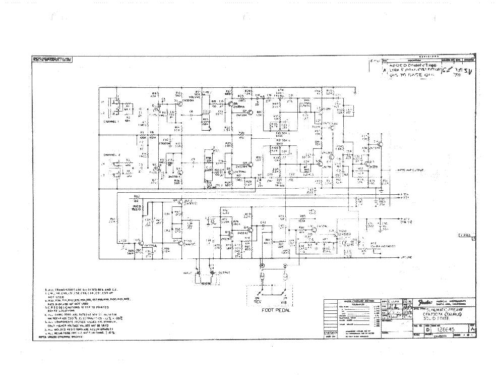 Fender Taurus Sch Service Manual Download Schematics Eeprom