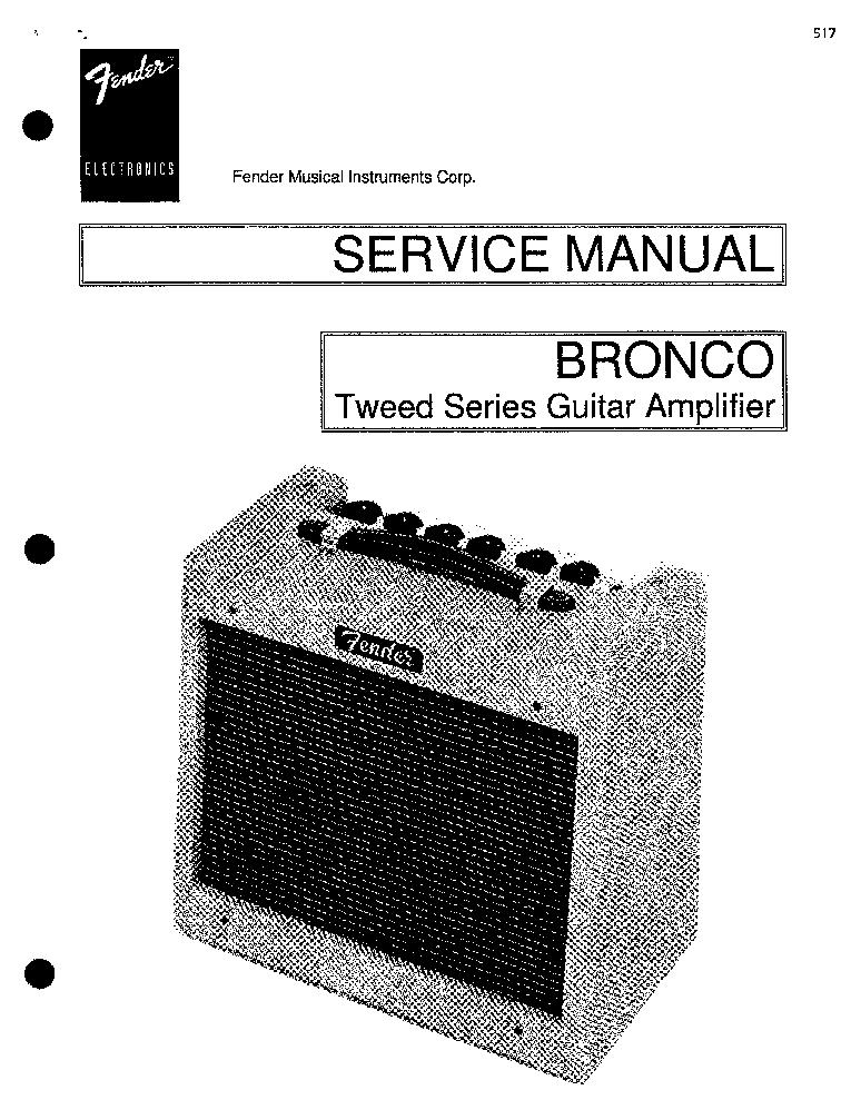 Fender Guitar Wiring Diagram For Bronco on