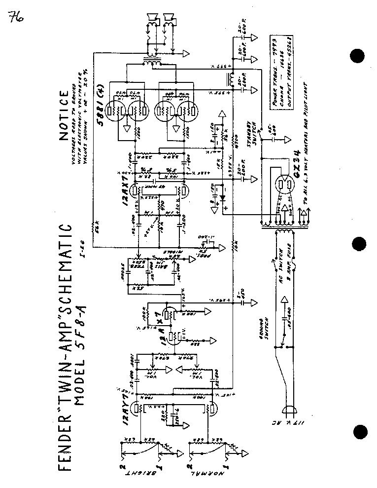 fender twin amp 5f8 sch service manual download