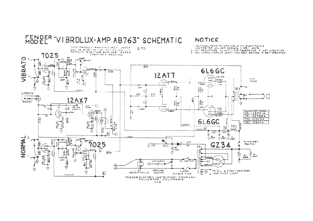 FENDER PERFORMER-650 GUITAR AMPLIFIER Service Manual ... on