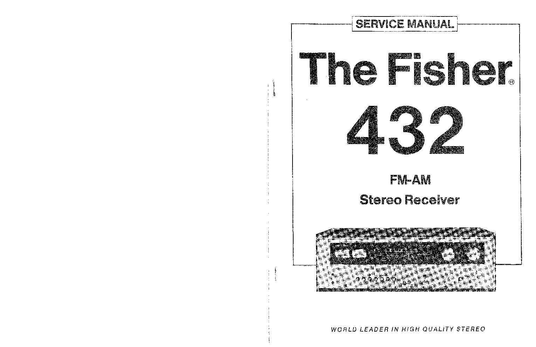 fisher ca271 ca1271 service manual free download