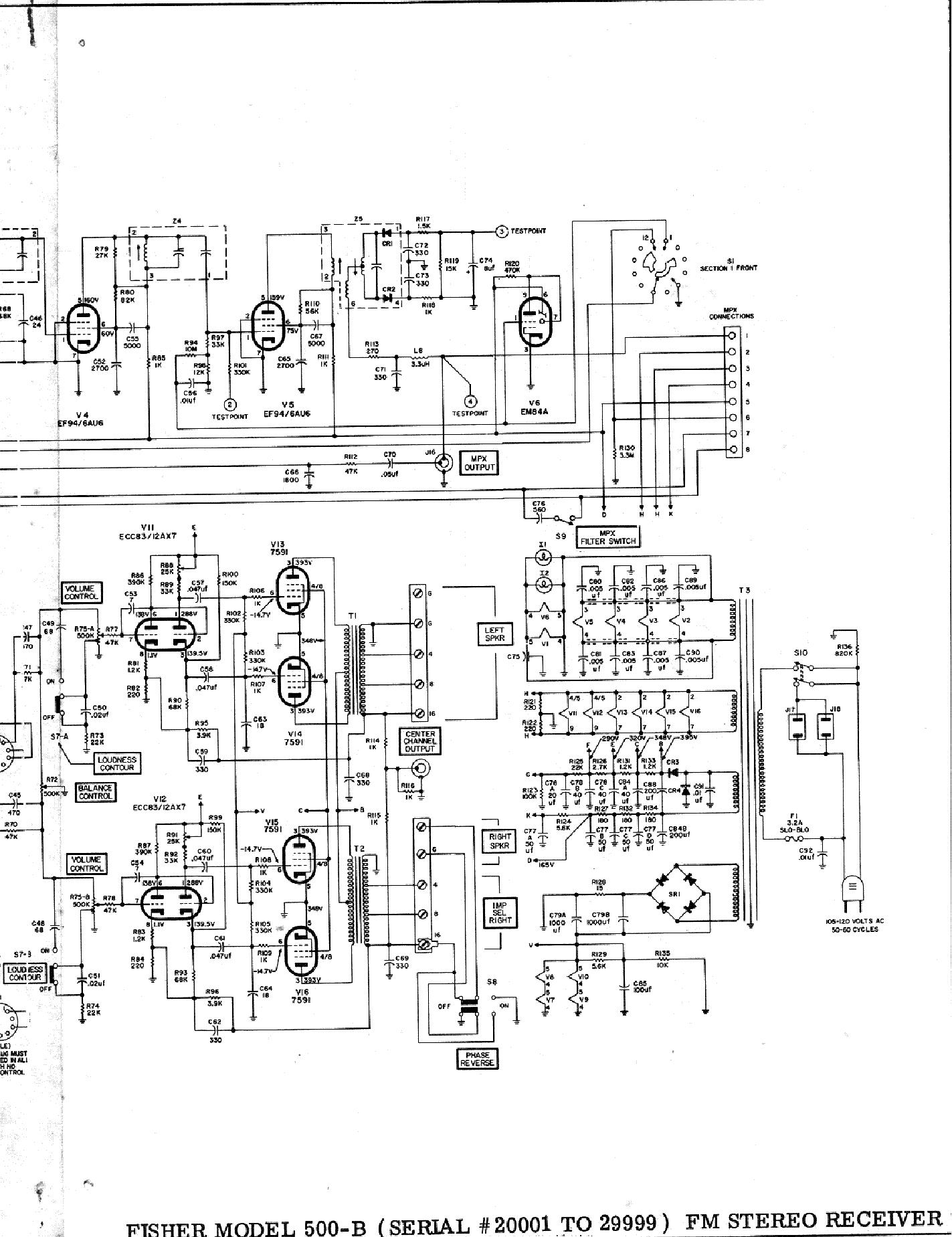 Vacuum Tube Amplifier Schematic Schematic Fisher 80az Tube
