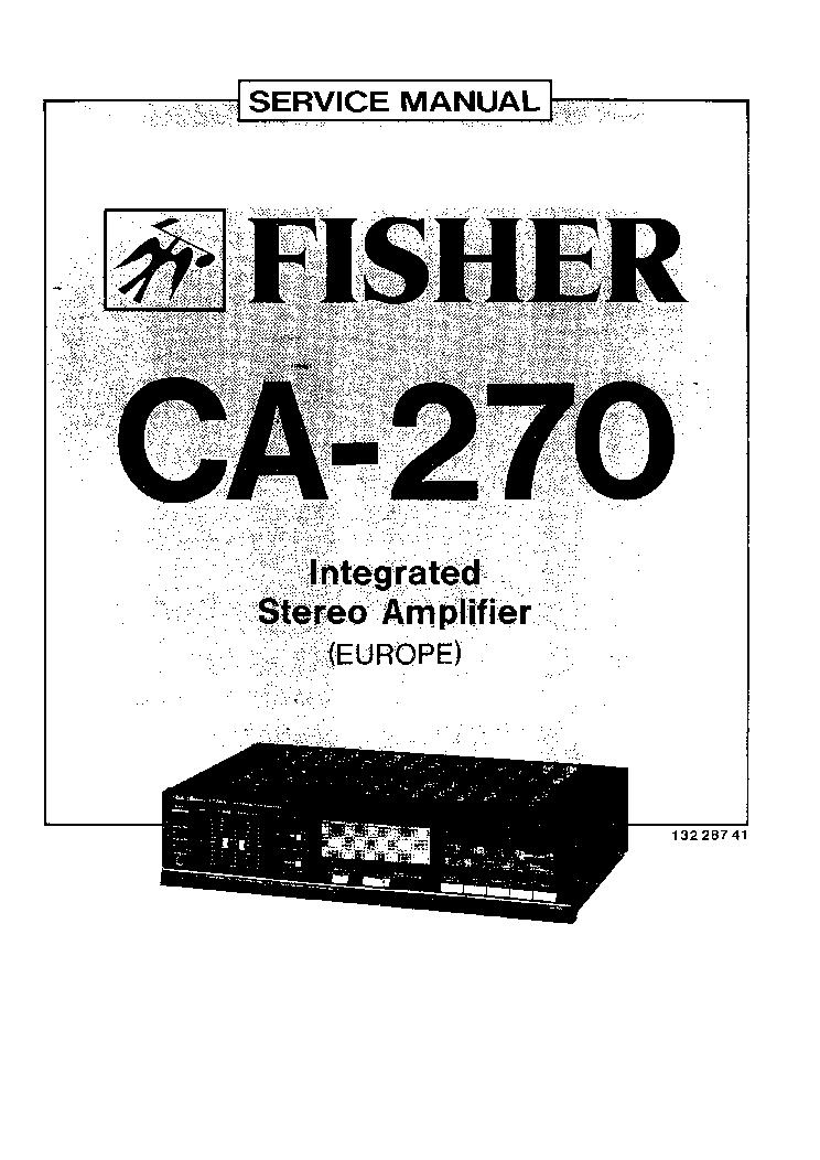 fisher ca 270 service manual schematics eeprom fisher ca 270 service manual 1st page