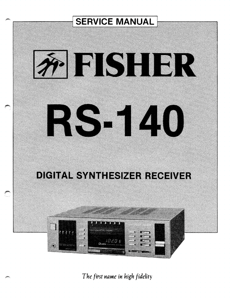 fisher 601 747 4 channel stereo am fm receiver sm service manual fisher
