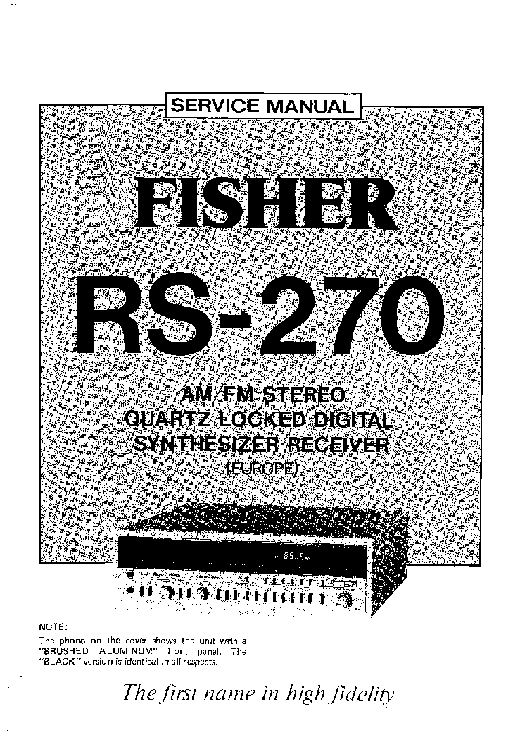 FISHER RS-270 service manual (1st page)