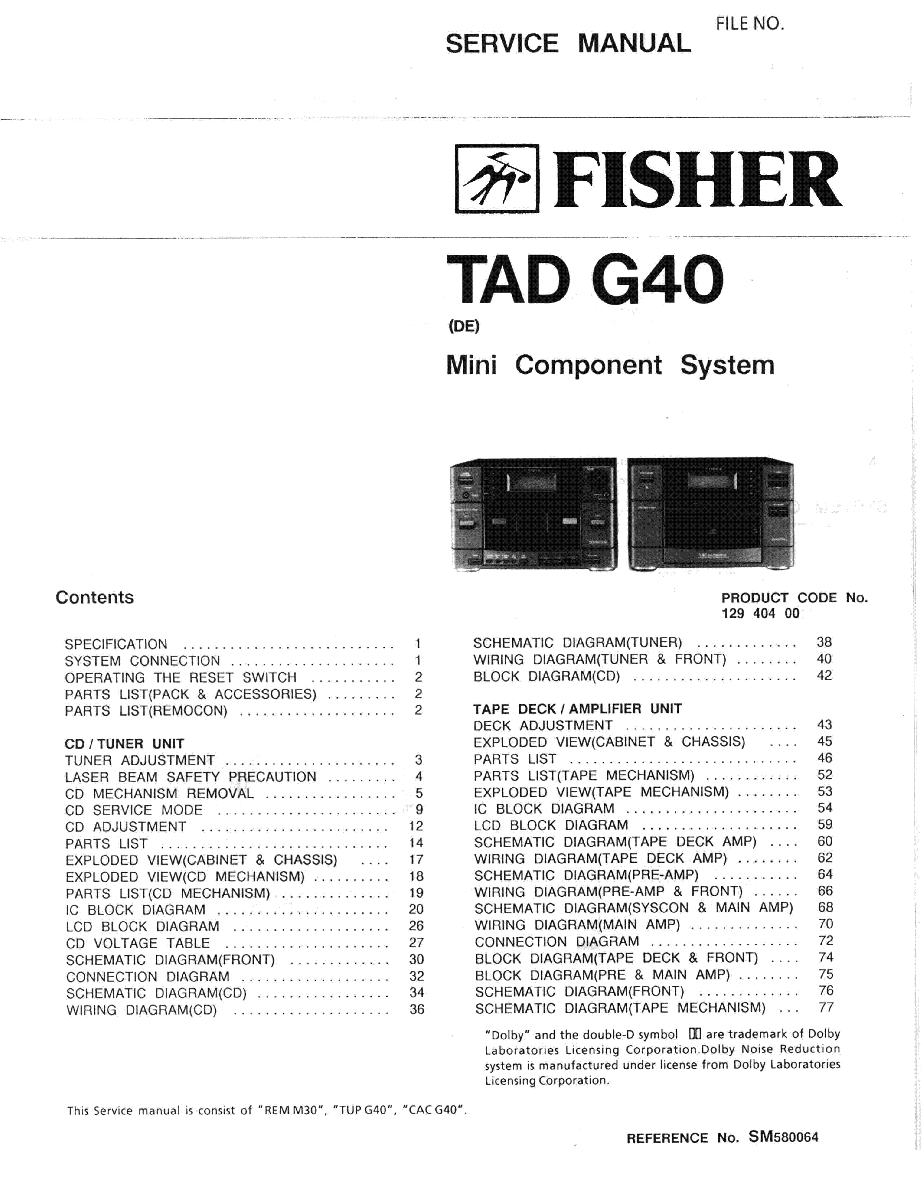Fisher 69t sm service manual download schematics eeprom repair fisher ccuart Choice Image