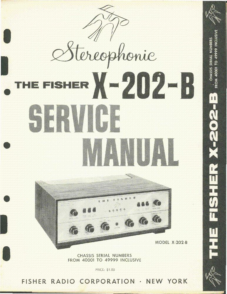 fisher ca915 service manual - Black Apron