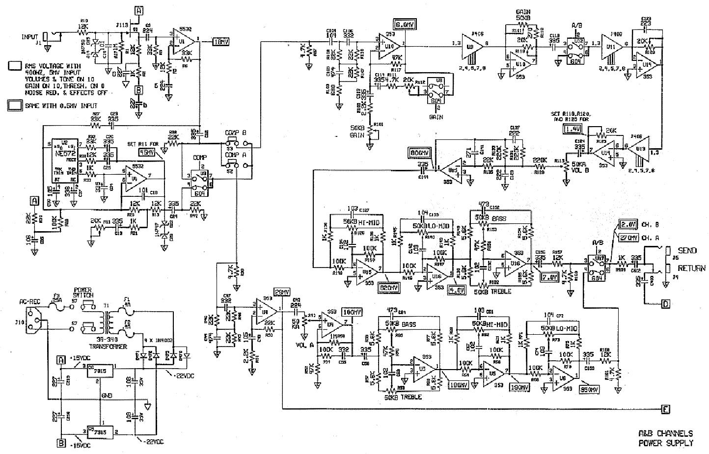 GALLIEN-KRUEGER 2000 SCH Service Manual download, schematics, eeprom