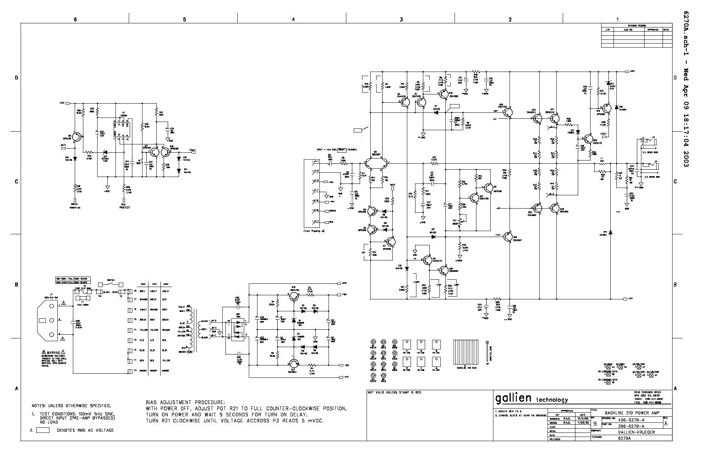 GALLIEN-KRUEGER BACKLINE-210 350 SM Service Manual download ...