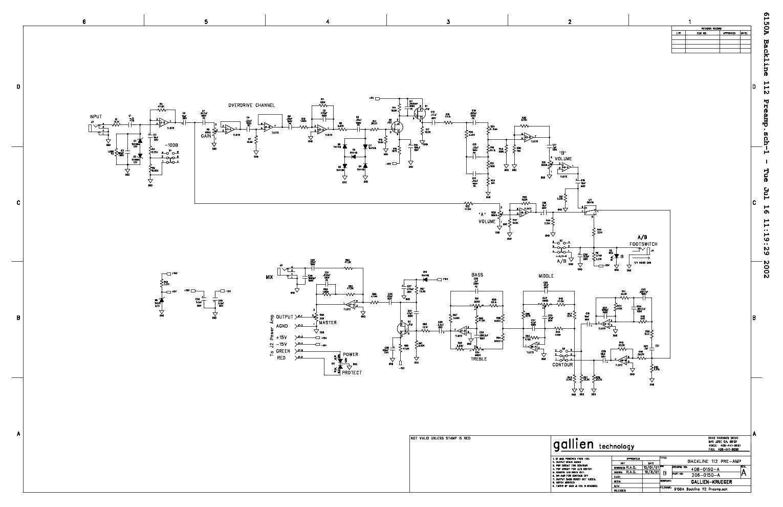 GALLIEN-KRUEGER BACKLINE BL-110 112 SM Service Manual download ...