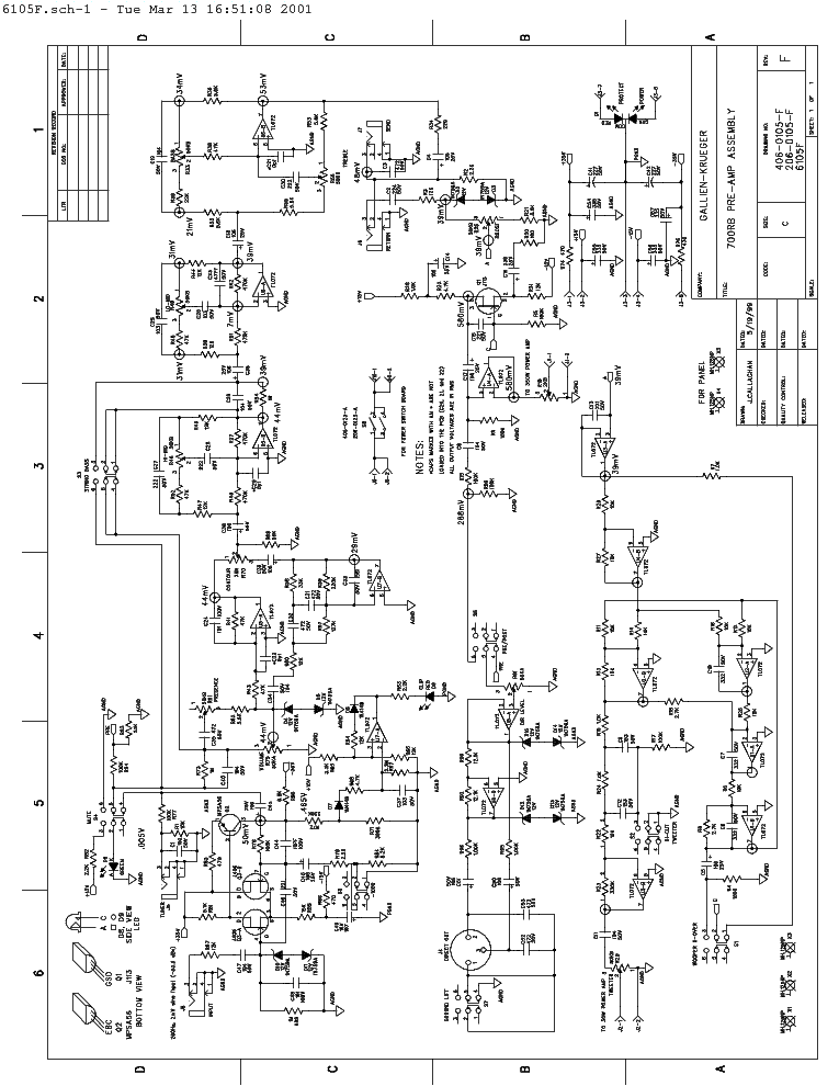 gallien krueger 700rb 1001rb combo amp 1998 sch service manual download schematics eeprom. Black Bedroom Furniture Sets. Home Design Ideas