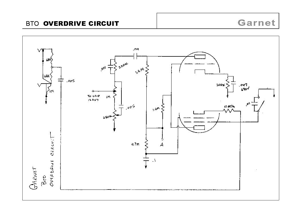 Garnet Bto Overdrive Circuit Schematic Service Manual