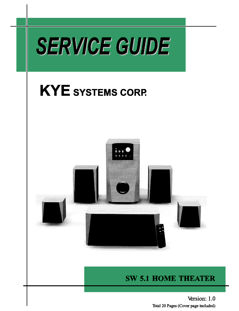 GENIUS SW-5.1 HOME THEATER SM service manual (1st page)