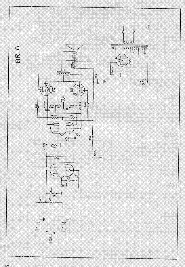 gibson br 6 amplifier schematic service manual download