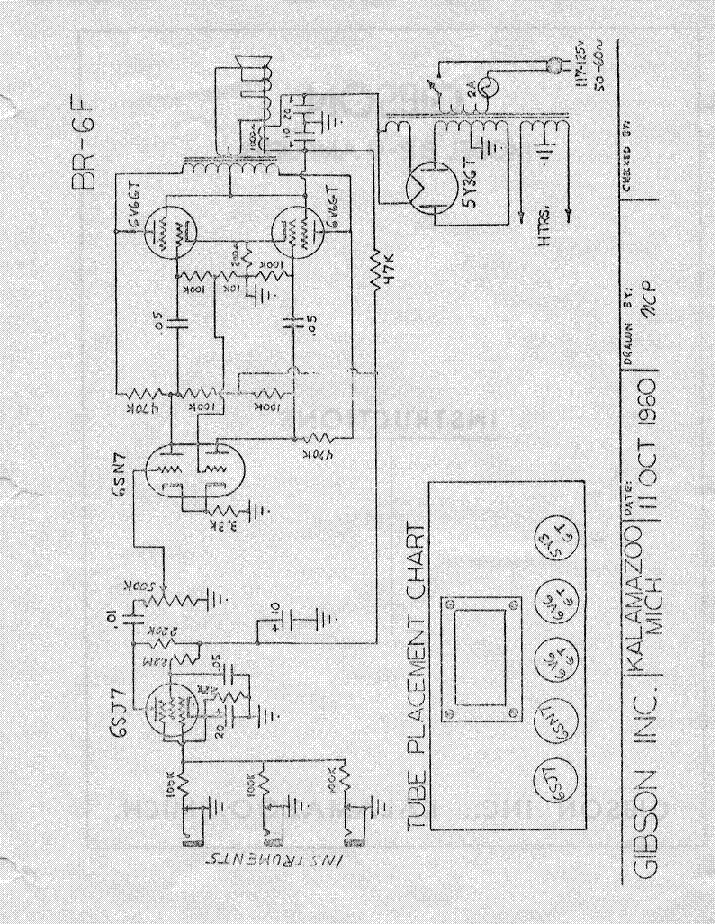 gibson br 6f amplifier schematic service manual download