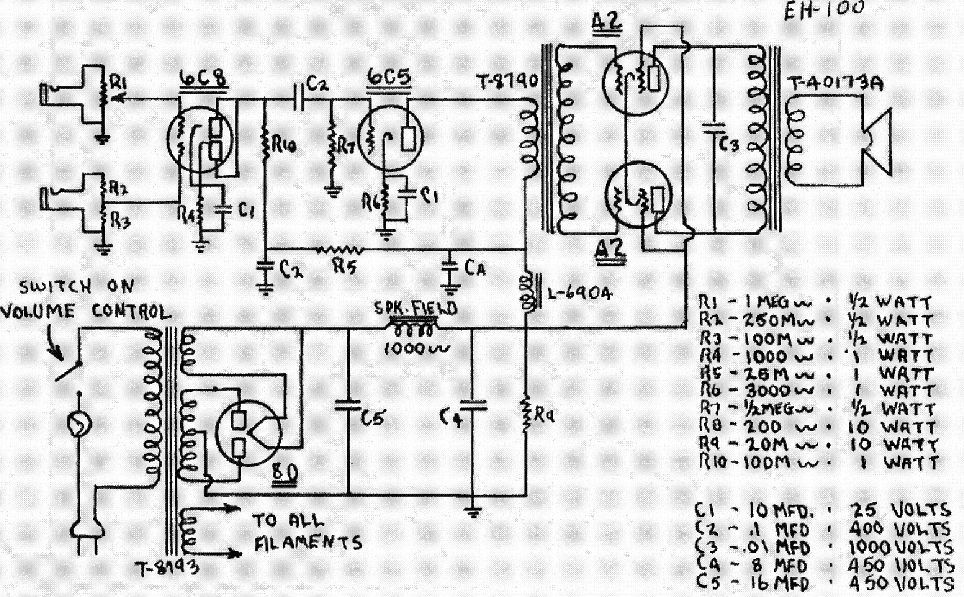 GIBSON GA-80 VARITONE SCHEMATIC Service Manual download, schematics ...