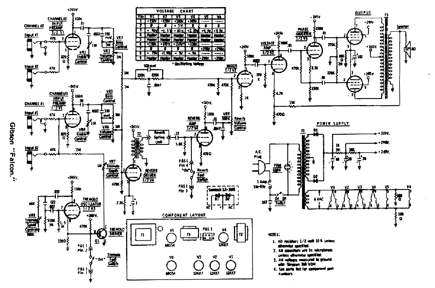 gibson gibsonette later schematic service manual download