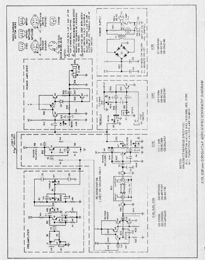 gibson g10 amplifier schematic service manual download