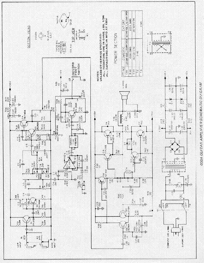 gibson g50a amplifier schematic service manual download