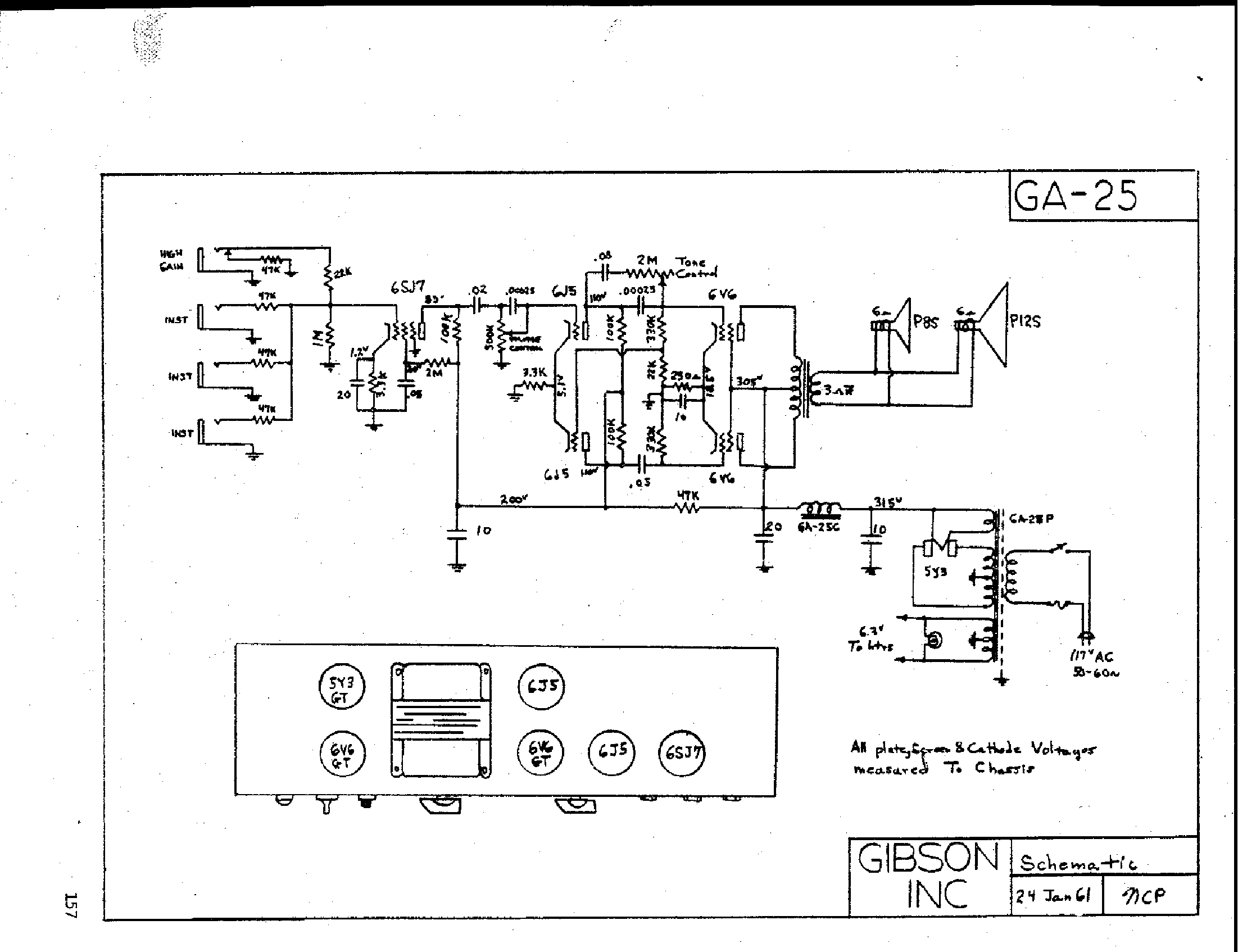 Gibson Ga 18t Amplifier Schematic Service Manual Download  Schematics  Eeprom  Repair Info For