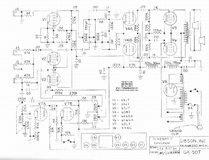 gibson ga 86 amplifier schematic service manual free