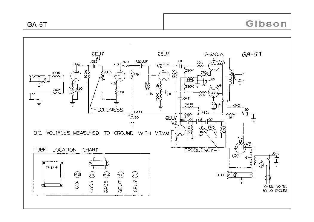 gibson ga 5 schematic dynaco pas 3 schematic