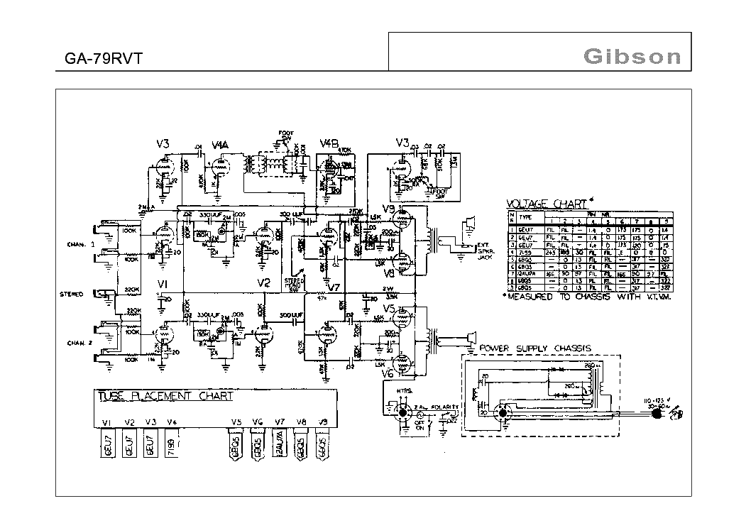 GIBSON GA-79RVT SCHEMATIC service manual (1st page)